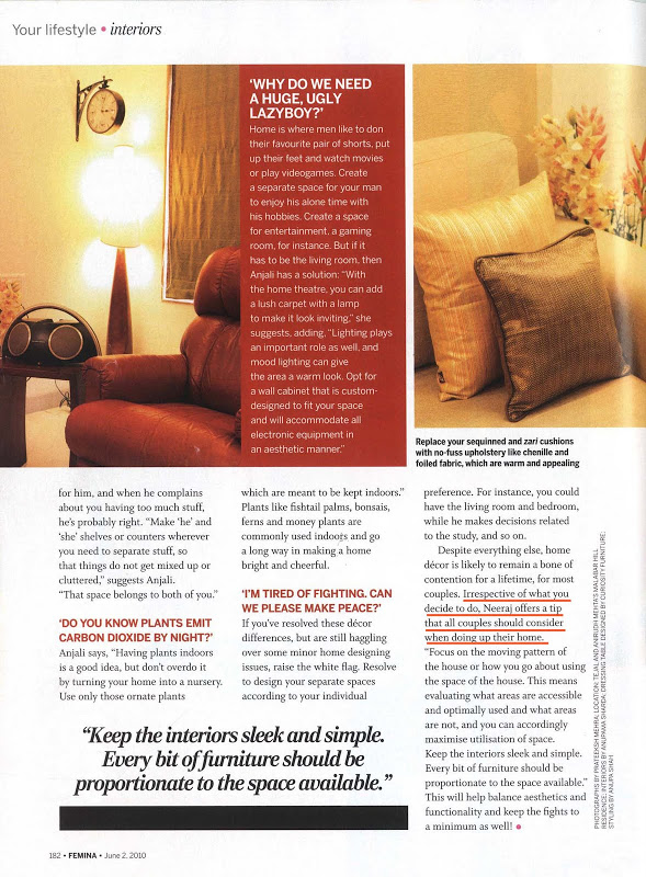 Femina SpacesTalk Interview